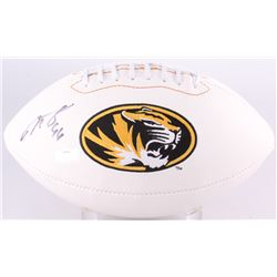 Justin Smith Signed Missouri Tigers Logo Football (Radtke Hologram)
