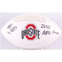 "Eli Apple Signed Ohio State Buckeyes Logo Football Inscribed ""2014 Natl Champs!""  (Radtke COA)"