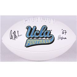 "Gary Beban Signed UCLA Logo Football Inscribed ""67 Heisman"" (Radtke COA)"