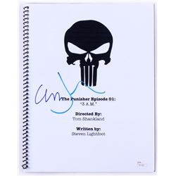 "Jon Bernthal  Ebon Moss-Bachrach Signed ""The Punisher Episode 01: 3 AM"" Full Episode Script (JSA COA"