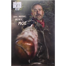 Jeffrey Dean Morgan Signed  The Walking Dead  24x36 Poster Inscribed  Negan  (Radtke COA)