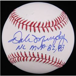 Dale Murphy Signed OML Baseball Inscribed  NL MVP 82, 83  (Radtke Hologram)