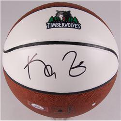 Kevin Garnett Signed Timberwolves Logo Basketball (PSA COA)