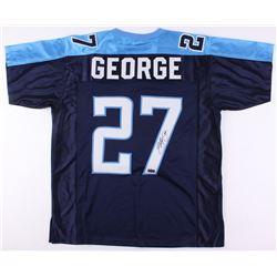 Eddie George Signed Titans Jersey (Radtke Hologram)