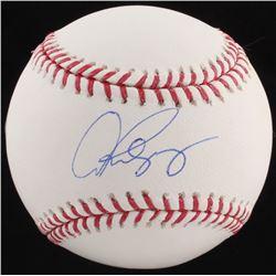 Alex Rodriguez Signed OML Baseball (Steiner COA)