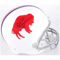 O.J. Simpson Signed Bills Throwback Full-Size Helmet (JSA COA  Simpson Hologram)