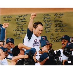 """""""Nolan Ryan's 7th No Hitter"""" LE 16x20 Photo Signed by (27) With Nolan Ryan, Gaylord Perry, Jim Palme"""