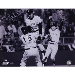 """Sparky Lyle Signed Yankees 11x14 Photo Inscribed """"77 CY"""" (FSC COA)"""