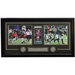Brandon Graham  Derek Barnett Super Bowl LII 16x32 Custom Framed Strip Sack Collage