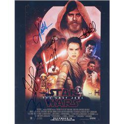 Star Wars The Last Jedi 11x14 Photo Signed By (5) With Mark Hamill, Kelly Marie Tran, Rian Johnson,