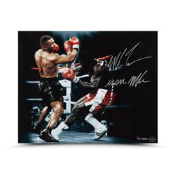 "Mike Tyson Signed 16x20 Photo Inscribed ""Iron Mike"" (UDA COA)"