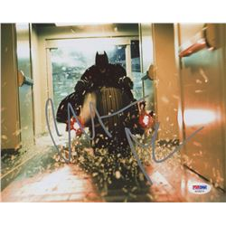 "Christian Bale Signed ""The Dark Knight""  8x10 Photo (PSA COA)"