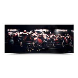 "Mike Tyson Signed ""Roundhouse"" 15x36 Limited Edition Photo (UDA COA)"