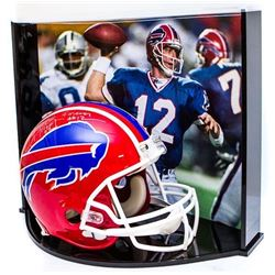 """Jim Kelly Signed LE Bills Full-Size Authentic Pro-Line Helmet Inscribed """"HOF 02""""  """"Forever #12"""" With"""