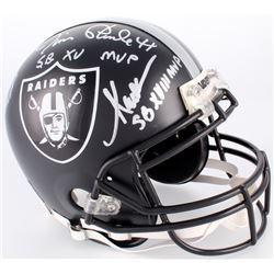 Fred Biletnikoff, Marcus Allen,  Jim Plunkett Signed Raiders Custom Matte Black Full-Size Authentic