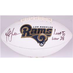 "Marshall Faulk Signed Rams Logo Football Inscribed ""Last to Wear 28"" (Radtke COA)"