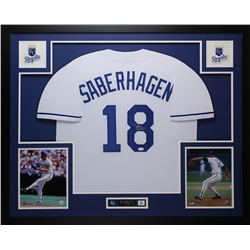 Bret Saberhagen Signed Royals 35x43 Custom Framed Jersey (JSA COA)