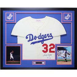 a5523c6c434 Sandy Koufax Signed Dodgers 35x43 Custom Framed Jersey (Fanatics MLB  Hologram)