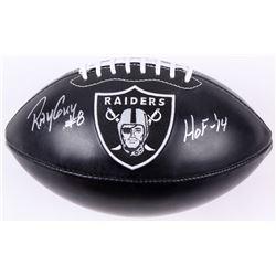 """Ray Guy Signed Raiders Logo Football Inscribed """"HOF -'14"""" (JSA Hologram)"""