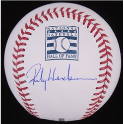 Rickey Henderson Signed OML Hall of Fame Baseball (JSA COA)