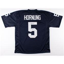 """Paul Hornung Signed Notre Dame Fighting Irish Jersey Inscribed """"56 H."""" (JSA Hologram)"""
