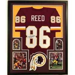 Jordan Reed Signed Redskins 34x42 Custom Framed Jersey Display (JSA COA)