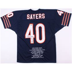 Gale Sayers Signed Bears Jersey Career Stat Jersey (GTSM / Sayers Hologram  TriStar Hologram)