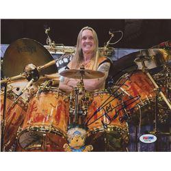 "Nicko McBrain Signed ""Iron Maiden"" 8x10 Photo (PSA COA)"