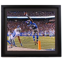 "Odell Beckham Jr. Signed Giants ""The Catch"" 26x30 LE Custom Framed Photo Inscribed ""Greatest Catch E"