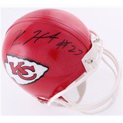 Kareem Hunt Signed Chiefs Mini-Helmet (JSA COA)