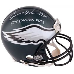 """Carson Wentz Signed Eagles Full-Size Authentic On-Field Helmet Inscribed """"Fly Eagles Fly!"""" (Fanatics"""