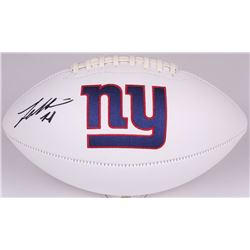 Landon Collins Signed Giants Logo Football (Radtke COA  Collins Hologram)
