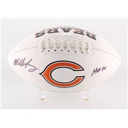 "Mike Singletary Signed Bears Logo Football Inscribed ""HOF 98"" (Radtke Hologram)"