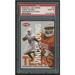2006 Aspire National VIP Promos #3 Vince Young (PSA 9)