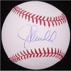 Joe Maddon Signed OML Baseball (JSA COA)