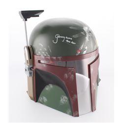"""Jeremy Bulloch Signed Star Wars """"Boba Fett"""" Full-Size Deluxe Edition Star Wars Helmet Inscribed """"Bob"""
