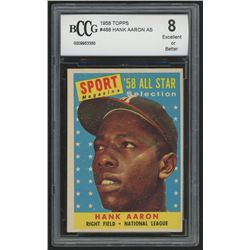 1958 Topps #488 Hank Aaron All Star (BCCG 8)