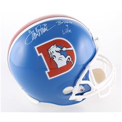 "Terrell Davis Signed Broncos Full-Size Helmet Inscribed ""Bronco 4 Life"" (Davis COA)"
