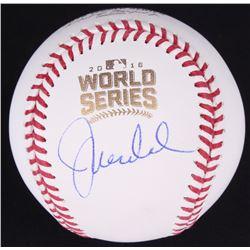 Joe Maddon Signed 2016 World Series Baseball (JSA COA)