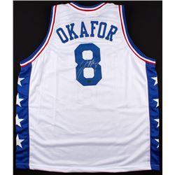 Jahlil Okafor Signed 76ers Jersey (Schwartz COA)