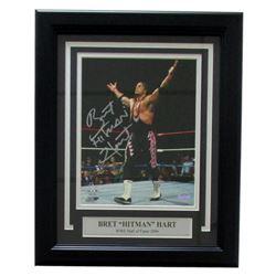 """Bret """"Hitman"""" Hart Signed WWE 11x14 Custom Framed Photo Display (SI COA)"""