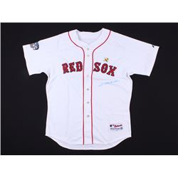 Johnny Damon Signed Red Sox 2004 World Series Jersey (Steiner COA)