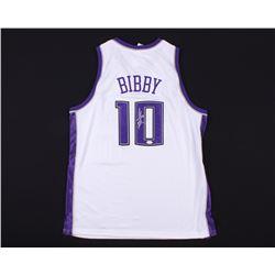 Mike Bibby Signed Kings Jersey (JSA COA)
