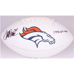 "Terrell Davis Signed Broncos Logo Football Inscribed ""1998 NFL MVP"" (Radtke COA)"