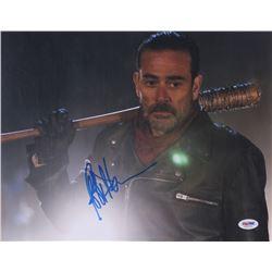 "Jeffrey Dean Morgan Signed ""The Walking Dead"" 11x14 Photo (PSA COA)"