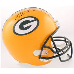 "Aaron Rodgers Signed Packers Full-Size Helmet Inscribed ""Fastest QB to 300 TD"" (Radke COA)"