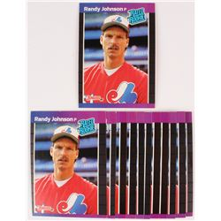 Lot of (10) 1989 Topps Traded #57T Randy Johnson
