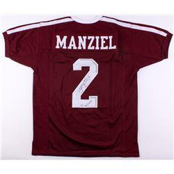 "Johnny Manziel Signed Texas AM Aggies Jersey Inscribed ""'12 Heisman"" (JSA COA)"
