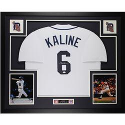 "Al Kaline Signed Tigers 35"" x 43"" Custom Framed Jersey (JSA COA)"