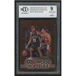 1997-98 Stadium Club Hardwood Hopefuls #HH4 Tim Duncan (BCCG 9)